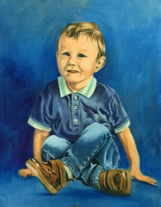 Finlay, Oil on Canvas on Board, Size 61 x 45cm